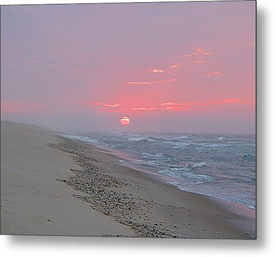 Metal Print featuring the photograph Hazy Sunrise by  Newwwman