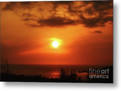 Hazy Sunset In Golden Bay Metal Print by Stephan Grixti