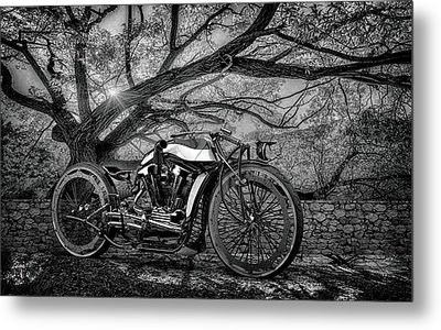 Metal Print featuring the photograph Hd Cafe Racer  by Louis Ferreira