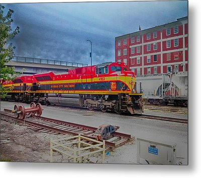 Hdr Fun With Trains Metal Print by Dustin Soph