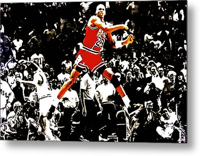 Michael Jordan Sweet Victory Metal Print by Brian Reaves
