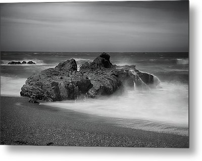 He Enters The Sea Metal Print by Laurie Search