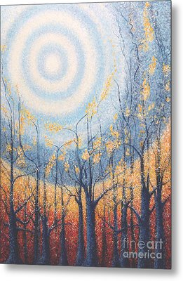 Metal Print featuring the painting He Lights The Way In The Darkness by Holly Carmichael