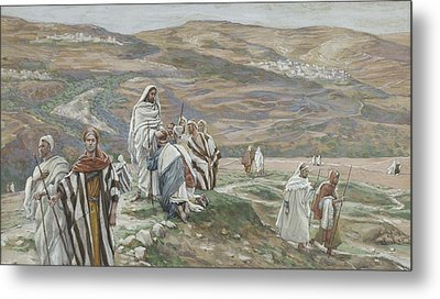 He Sent Them Out Two By Two Metal Print by Tissot