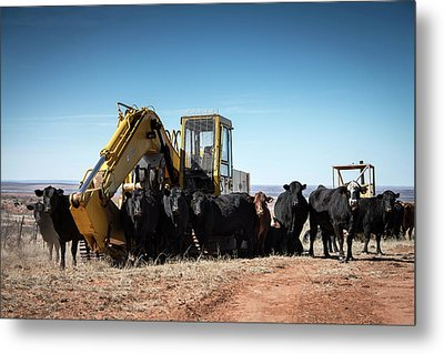He Told Us To Guard The Backhoe Metal Print