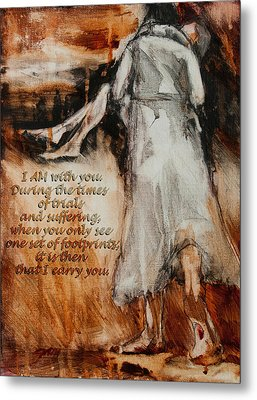 I Am With You - Footprints Metal Print by Jani Freimann