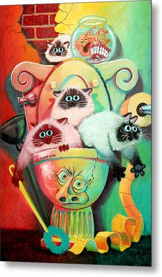 Head Cleaners Metal Print by Baron Dixon