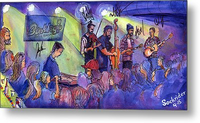Metal Print featuring the painting Head For The Hills At Barkley Ballroom by David Sockrider