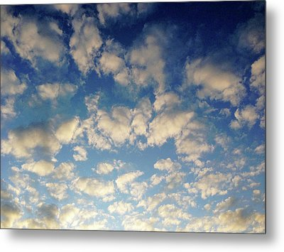 Head In The Clouds- Art By Linda Woods Metal Print