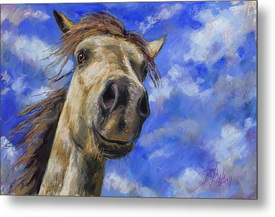 Head In The Clouds Metal Print by Billie Colson