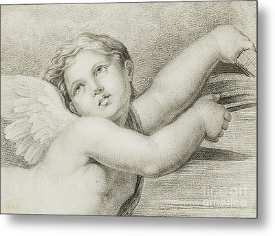Head Of A Putto  Metal Print
