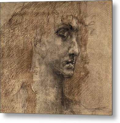 Head Of An Angel Metal Print by Mikhail Aleksandrovich Vrubel