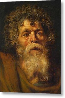 Head Of An Old Man Metal Print by Peter Paul Rubens