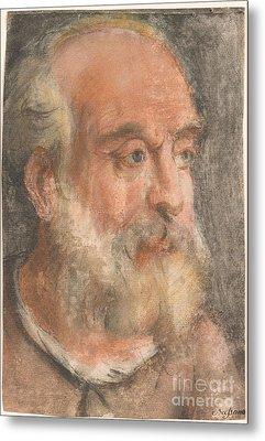 Head Of An Old Man With White Beard Metal Print
