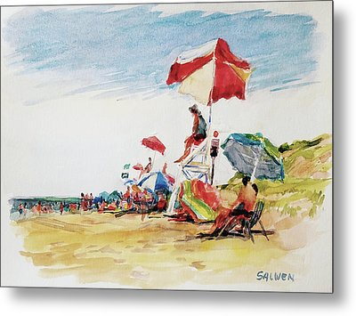 Head  Of The Meadow Beach, Afternoon Metal Print by Peter Salwen