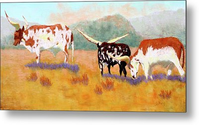 Headed For The Barn Metal Print by Nancy Jolley