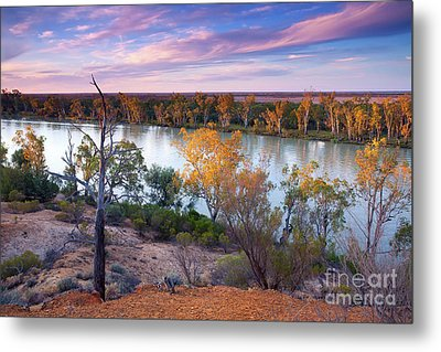 Metal Print featuring the photograph Heading Cliffs Murray River South Australia by Bill Robinson