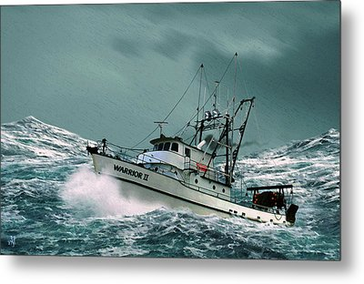 Heading For Shelter Metal Print by John Helgeson