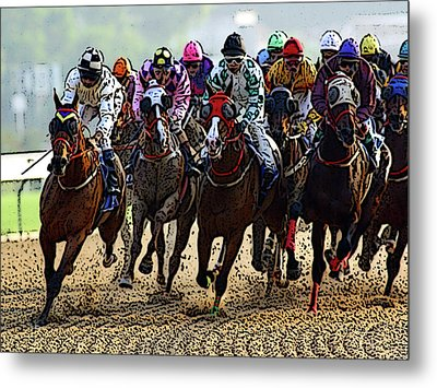 Heading For Thefinish Line Metal Print