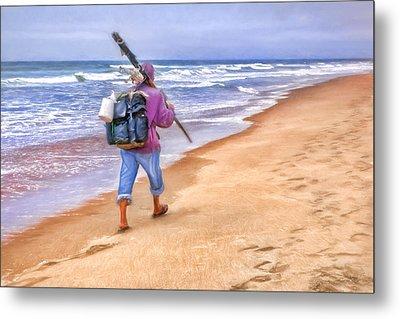 Heading Home - Ocean Fisherman Metal Print