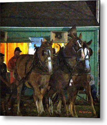 Heading Into The Ring Metal Print by RC deWinter