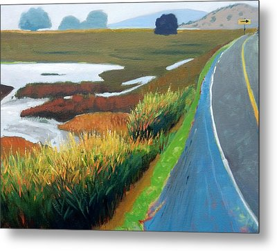 Metal Print featuring the painting Heading North by Gary Coleman