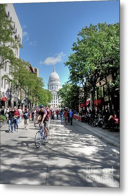 Heading To Camp Randall Metal Print