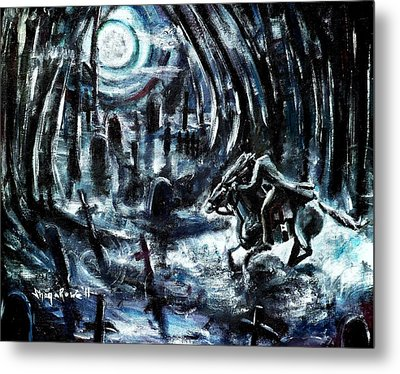 Metal Print featuring the painting Headless In The Hollow by Shana Rowe Jackson