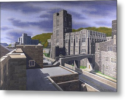 Headquarters Tower West Point Metal Print by Glen Heberling