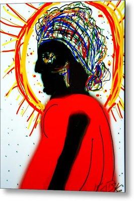 Headscarf Metal Print