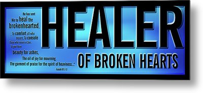 Metal Print featuring the digital art Healer Of Broken Hearts by Shevon Johnson