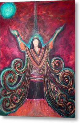 Healing Energy Metal Print by NARI - Mother Earth Spirit