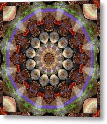 Healing Mandala 30 Metal Print by Bell And Todd