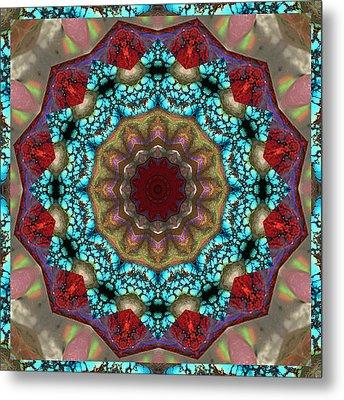 Healing Mandala 35 Metal Print by Bell And Todd