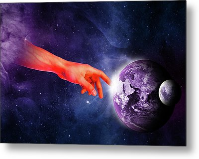 Healing Touch Metal Print
