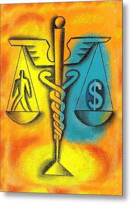 Healthcare Cost Metal Print