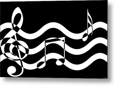 Hear The Music Metal Print by Evelyn Patrick