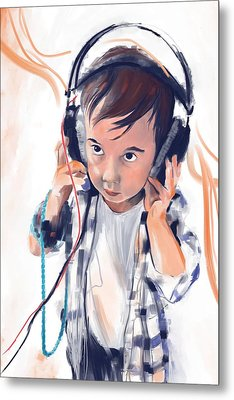Hearing The Music Metal Print