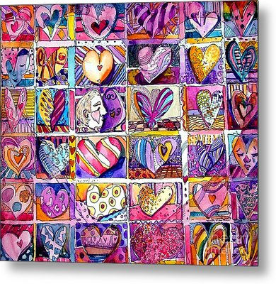 Heart 2 Heart Metal Print by Mindy Newman