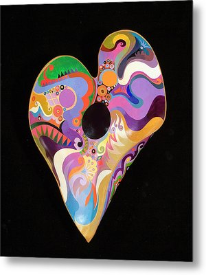 Metal Print featuring the painting Heart Bowl by Bob Coonts