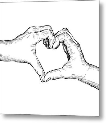 Heart Hands Metal Print by Karl Addison