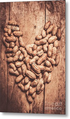Heart Health And Nuts Metal Print