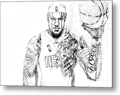 Heart In The Game Metal Print
