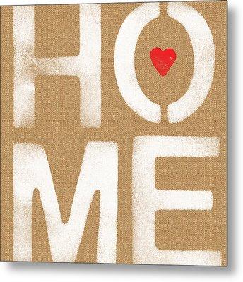 Heart In The Home- Art By Linda Woods Metal Print by Linda Woods
