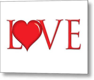 Heart Love Metal Print