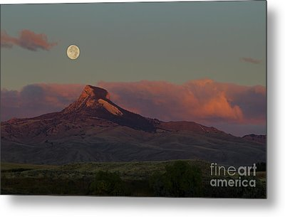Heart Mountain And Full Moon-signed-#0273  #0273 Metal Print by J L Woody Wooden