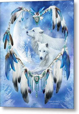Heart Of A Wolf 4 Metal Print by Carol Cavalaris