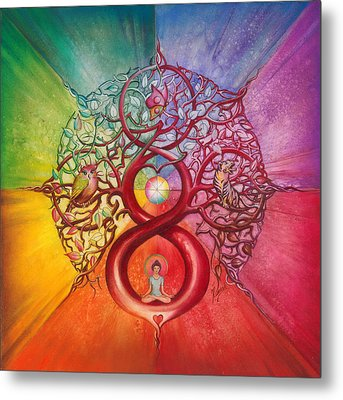 Heart Of Infinity Metal Print by Anna Ewa Miarczynska