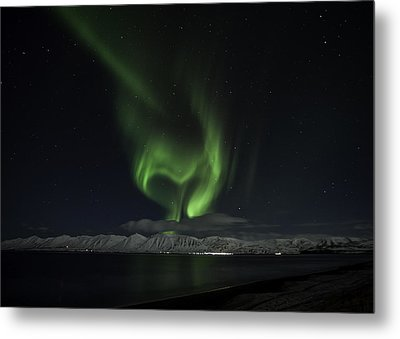 Heart Of Northern Lights Metal Print by Frodi Brinks
