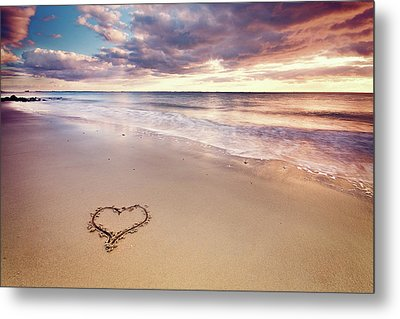 Heart On The Beach Metal Print